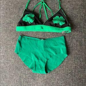 Victoria's Secret Saint Patrick's day set